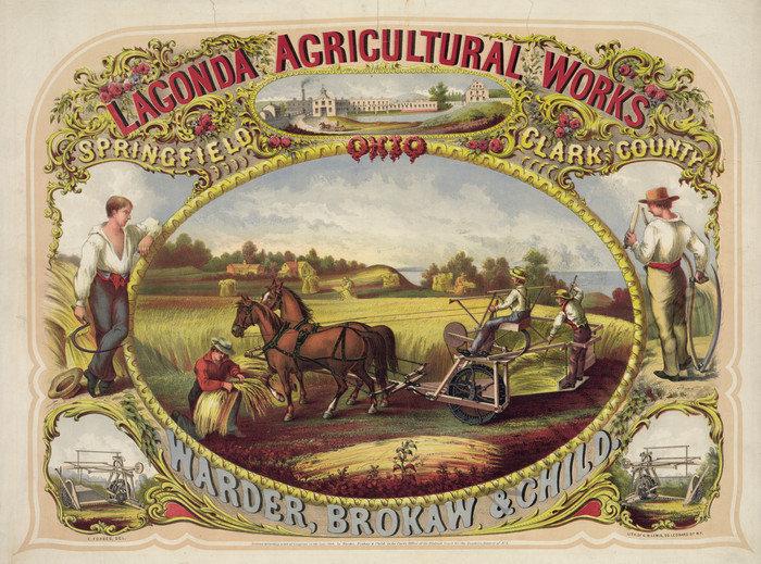Lagonda Agricultural Works vintage poster repro 32x24 : eBay