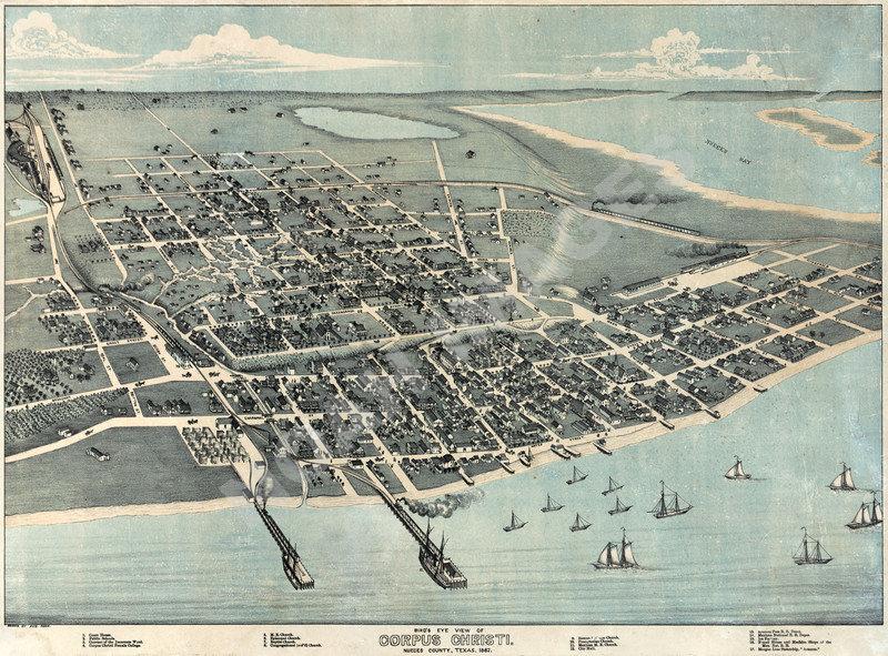 Map of Bridgton Maine panorama c1888 24x18
