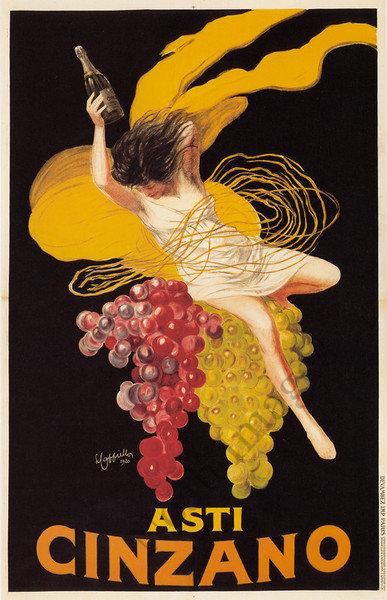 Asti Cinzano Vintage Wine Poster Repro 24x36 Ebay