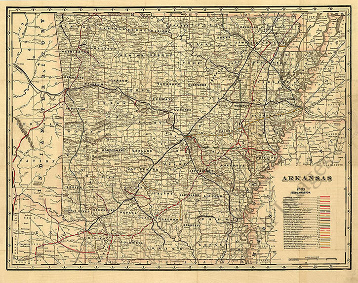 Railroad /& township map of Ohio c1854 map 30x24